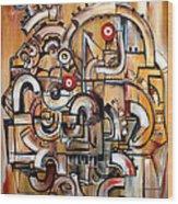 Gears Of Ganesha Wood Print