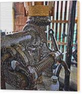 Gears Work One Wood Print