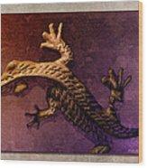 Gecko Dance 2 Wood Print