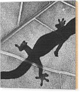 Gecko Shadow Wood Print