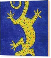 Gecko Wiggle Wood Print