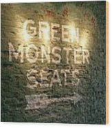 Geen Monster Seats Sign Wood Print