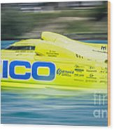Geico Off Shore Racing Wood Print