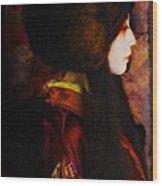 Geisha 4 From Geisha Series Wood Print