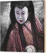 Geisha Kunoichi Wood Print