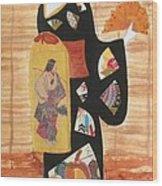 Geisha Wood Print