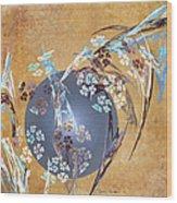 Geisha Moon Wood Print
