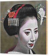 Geisha No.145 Wood Print by Yoshiyuki Uchida