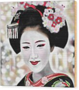 Geisha No.168 Wood Print