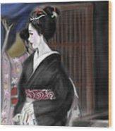 Geisha No.4 Wood Print