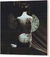 Geisha Wood Print by Shanina Conway