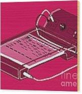 Gel Electrophoresis, Illustration Wood Print