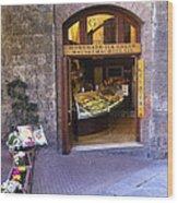 Gelateria Siena Wood Print