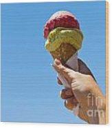 Gelati Ice Cream Cone Wood Print