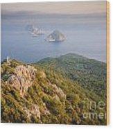 Gelidonia Headland At Sunset 2 Wood Print