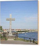 Gellert Hill Cross In Budapest Wood Print