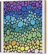 Gem Stones Wood Print