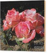 Gemini Tea Rose Wood Print