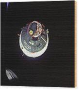 Gemini Vii Orbit 1965 - Nasa Wood Print