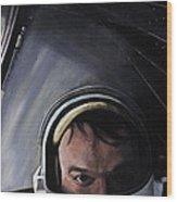 Gemini X- Michael Collins Wood Print by Simon Kregar