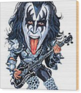 Gene Simmons Wood Print by Art