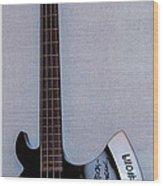 Gene Simmons Hatchet Bass Guitar Wood Print