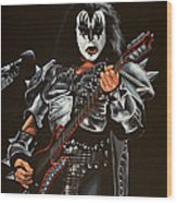 Gene Simmons Of Kiss Wood Print