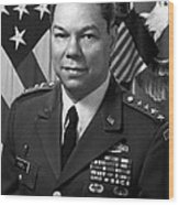 General Colin Powell Wood Print by War Is Hell Store