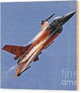 General Dynamics F-16am Fighting Falcon Wood Print