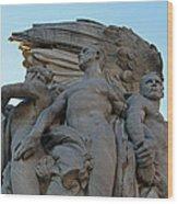 General George Meade Memorial -- Right Side Wood Print