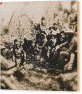 General George R. Crook Negotiating With Geronimo  1886-2008 Wood Print