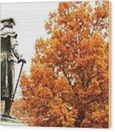 General In Fall Splendor Wood Print
