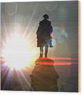 General In Sunrise Flares Wood Print