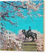 General In The Blossoms Wood Print