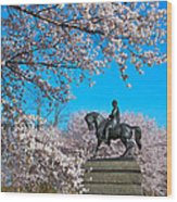 General In The Cherry Blossoms Wood Print