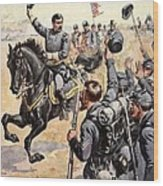 General Mcclellan At The Battle Wood Print by Henry Alexander Ogden
