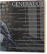 General Orders Wood Print