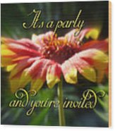 General Party Invitation - Blanket Flower Wildflower Wood Print by Mother Nature
