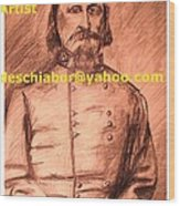 General Pickett Confederate  Wood Print