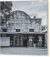 General Store In Independence Texas Bw Wood Print