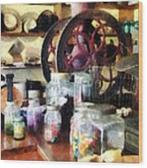 General Store With Candy Jars Wood Print