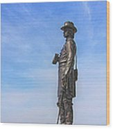 General Warren Statue At Gettysburg Wood Print by Randy Steele
