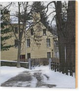General Wayne Inn In Winter Wood Print