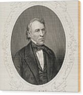 General Zachary Taylor, From The History Of The United States, Vol. II, By Charles Mackay, Engraved Wood Print