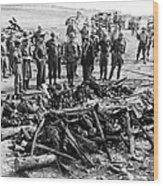 Generals Eisenhower, Bradley, Patton Wood Print