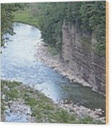 Genesee River In Grand Canyon Of East Wood Print