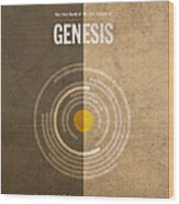 Genesis Books Of The Bible Series Old Testament Minimal Poster Art Number 1 Wood Print