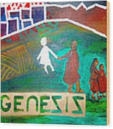 Genesis  By Janelle Dey Wood Print
