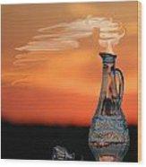 Genie In A Bottle Wood Print