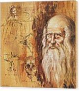 Genius   Leonardo Da Vinci Wood Print